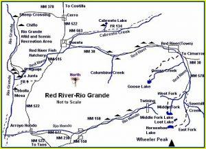 Red River - Rio Grande map