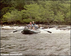 Southeastern Oklahoma's Lower Mountain Fork River has a mixture of slow moving flats, pools, riffles, and rapids.